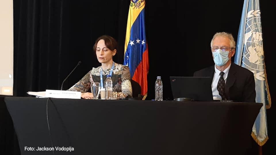 Alena Douhan en Caracas
